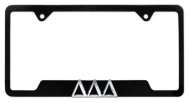 Tri Delt Black Open License Plate Frame image