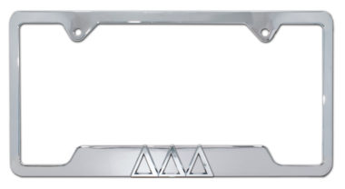 Tri Delt Chrome Open License Plate Frame