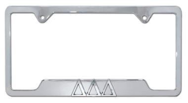 Tri Delt Chrome Open License Plate Frame