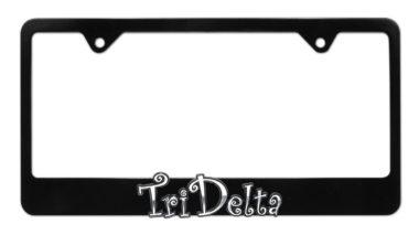 Tri Delta Black License Plate Frame