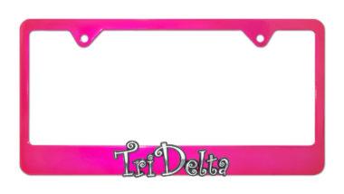 Tri Delta Pink License Plate Frame
