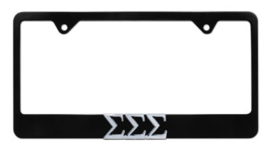 Tri Sig Black License Plate Frame
