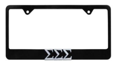 Tri Sig Black License Plate Frame