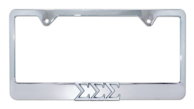 Tri Sig Chrome License Plate Frame