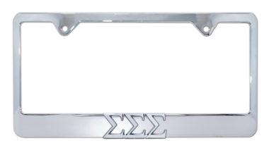 Tri Sig Chrome License Plate Frame image