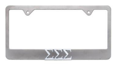 Tri Sig Matte License Plate Frame