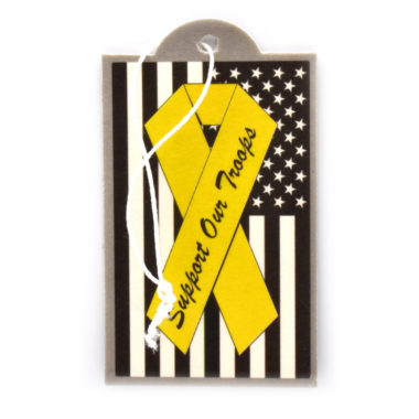 Charitable Support Our Troops Air Freshener - 6 Pack