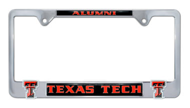 Texas Tech Alumni 3D License Plate Frame