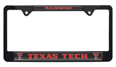 Texas Tech Alumni Black License Plate Frame