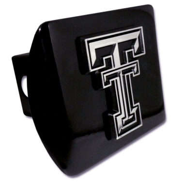Texas Tech Emblem on Black Hitch Cover