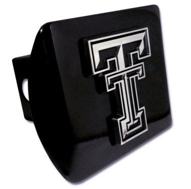 Texas Tech Emblem on Black Hitch Cover
