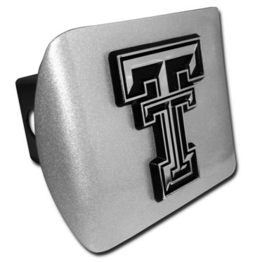 Texas Tech Emblem on Brushed Hitch Cover