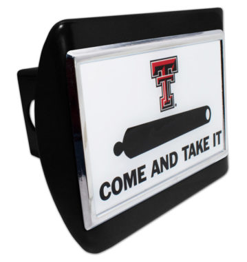 Texas Tech Cannon Emblem on Black Hitch Cover