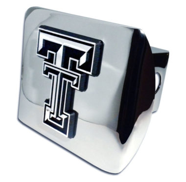 Texas Tech Emblem on Chrome Hitch Cover image