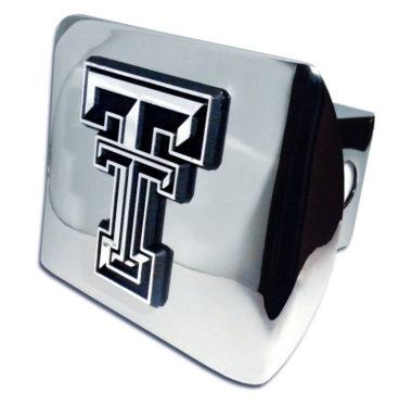 Texas Tech Emblem on Chrome Hitch Cover