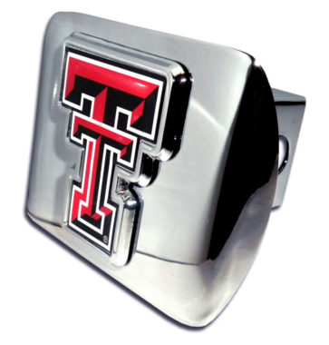 Texas Tech Emblem on Chrome Hitch Cover