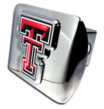 Texas Tech Chrome Hitch Cover