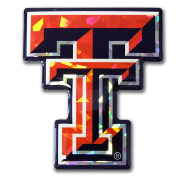 Texas Tech Red 3D Reflective Decal