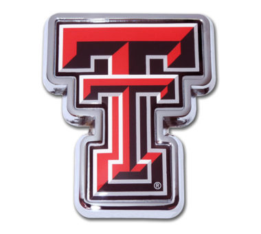 Texas Tech Red Chrome Emblem