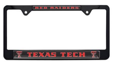 Texas Tech Red Raiders Black License Plate Frame
