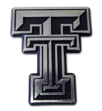 Texas Tech Matte Chrome Emblem