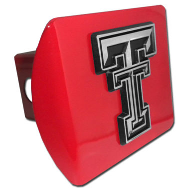 Texas Tech Emblem on Red Hitch Cover