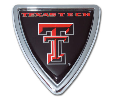 Texas Tech Shield Chrome Emblem