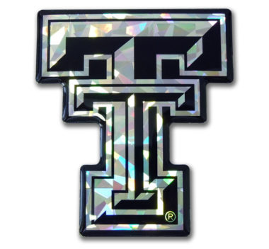 Texas Tech Silver 3D Reflective Decal