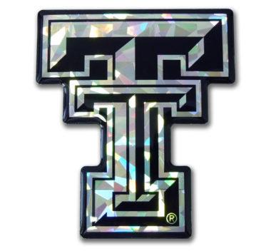 Texas Tech Silver 3D Reflective Decal