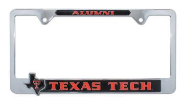 Texas Tech Alumni Texas 3D License Plate Frame image