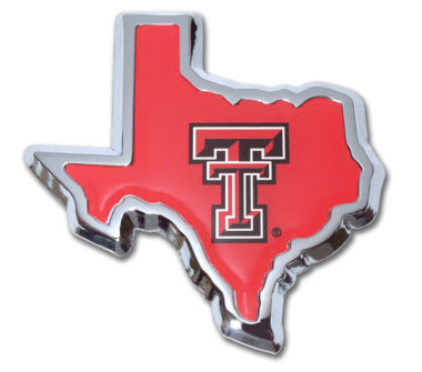 Texas Tech State Shape Chrome Emblem