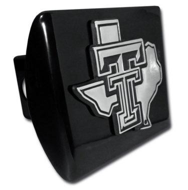 Texas Tech Texas Emblem on Black Hitch Cover