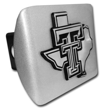 Texas Tech Texas Emblem on Brushed Hitch Cover