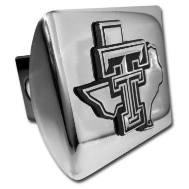 Texas Tech Texas Emblem on Chrome Hitch Cover
