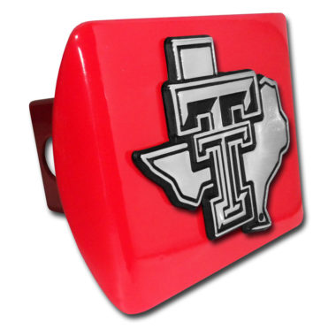 Texas Tech Texas Emblem on Red Hitch Cover
