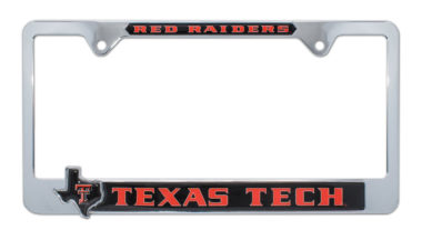 Texas Tech Red Raiders Texas 3D License Plate Frame