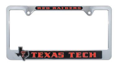 Texas Tech Red Raiders Texas 3D License Plate Frame
