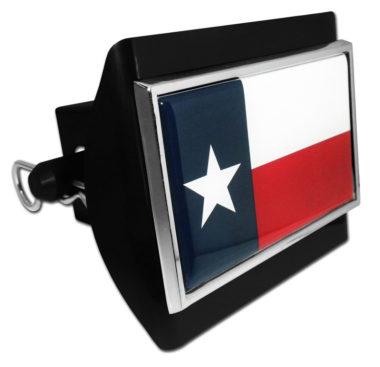 Texas Flag Black Plastic Hitch Cover