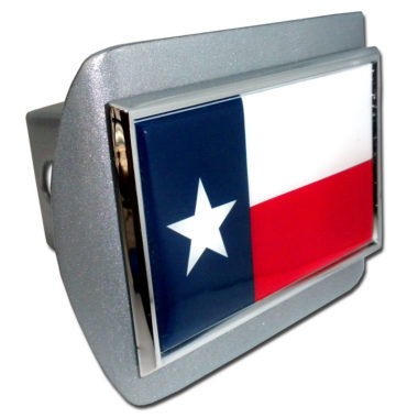 Texas Flag Brushed Hitch Cover