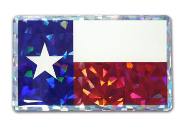 Texas Flag 3D Reflective Decal image