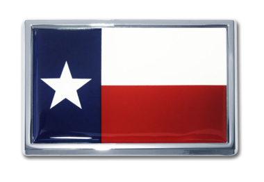 Large Texas Flag Chrome Emblem