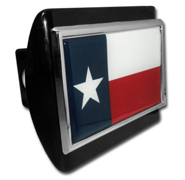 Texas Flag Black Hitch Cover