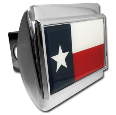 Texas Flag Chrome Hitch Cover