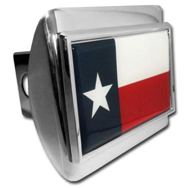 Texas Flag Chrome Hitch Cover