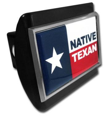 Native Texan Flag Black Hitch Cover image