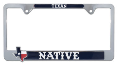 Texas Native License Plate Frame image