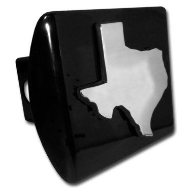 State of Texas Emblem on Black Hitch Cover