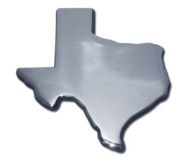 State of Texas Chrome Emblem