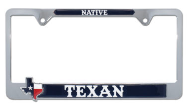 Native Texan License Plate Frame
