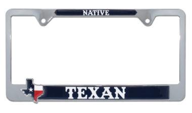 Native Texan License Plate Frame image